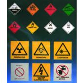 Corrosive Hazard Warning Label S5015